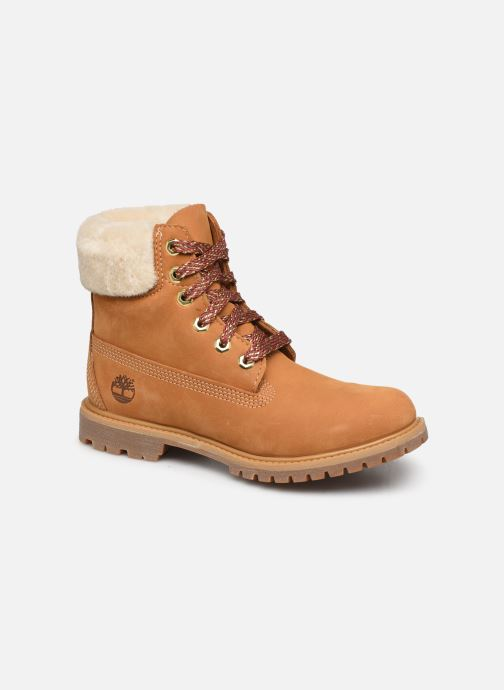 Bottines et boots Timberland 6in Premium w/Shearling Marron vue détail/paire