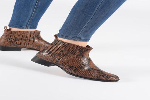 Bottines et boots Parallèle Carene C Noir vue bas / vue portée sac