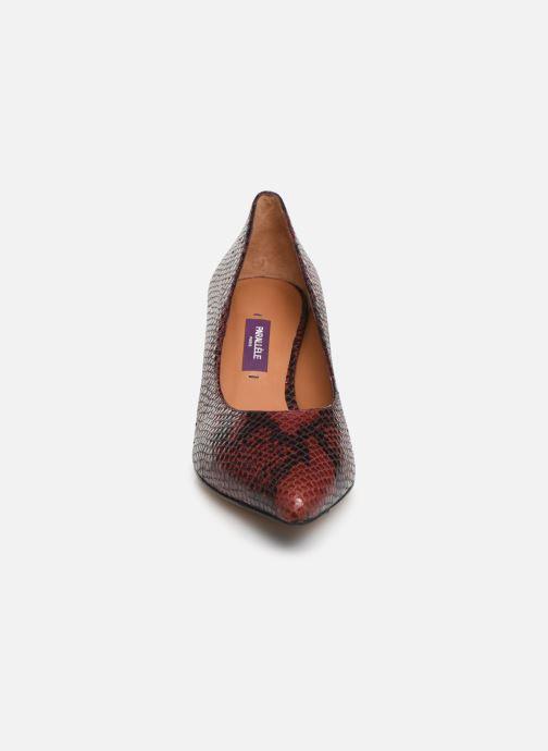 Escarpins Parallèle Nafta Python C Rouge vue portées chaussures