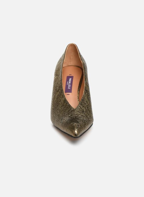 Escarpins Parallèle Omega Super C Or et bronze vue portées chaussures