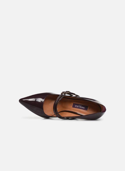 Zapatos de tacón Parallèle Sharon C Vino vista lateral izquierda
