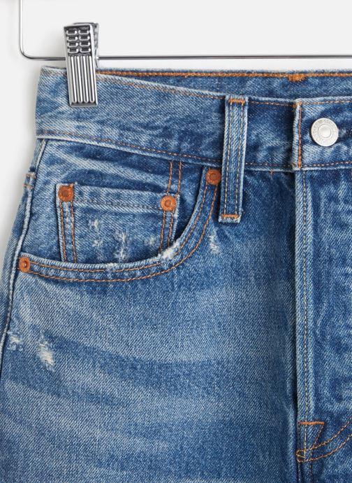 Vêtements Levi's Hr Decon Iconic Bf Skirt Bleu vue portées chaussures