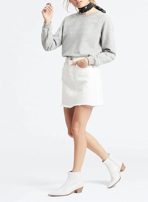 Vêtements Levi's Hr Decon Iconic Bf Skirt Blanc vue face