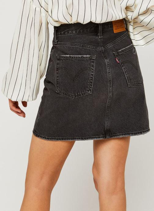 Vêtements Levi's Hr Decon Iconic Bf Skirt Noir vue portées chaussures
