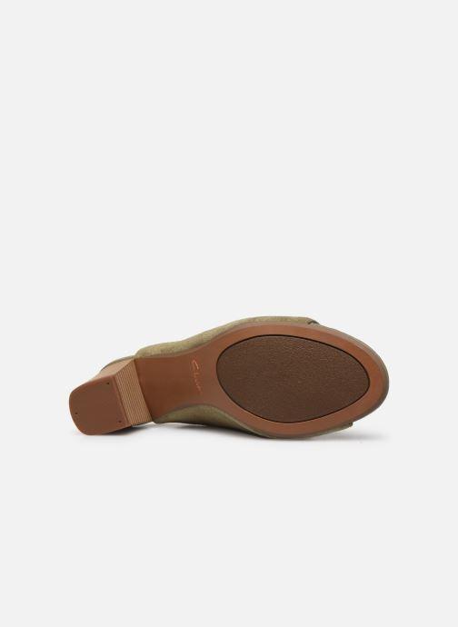 Sandales et nu-pieds Clarks Unstructured Deva Bell Vert vue haut