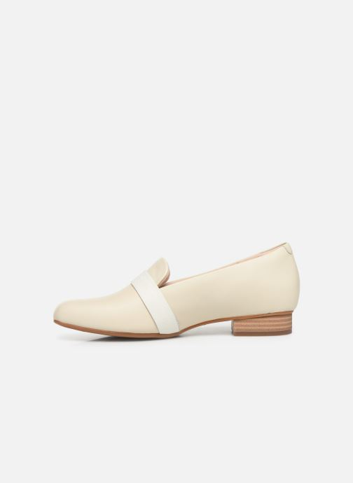 Mocassins Clarks Unstructured Juliet Ariel Wit voorkant