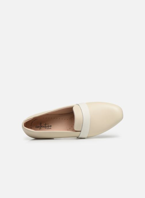 Mocasines Clarks Unstructured Juliet Ariel Blanco vista lateral izquierda