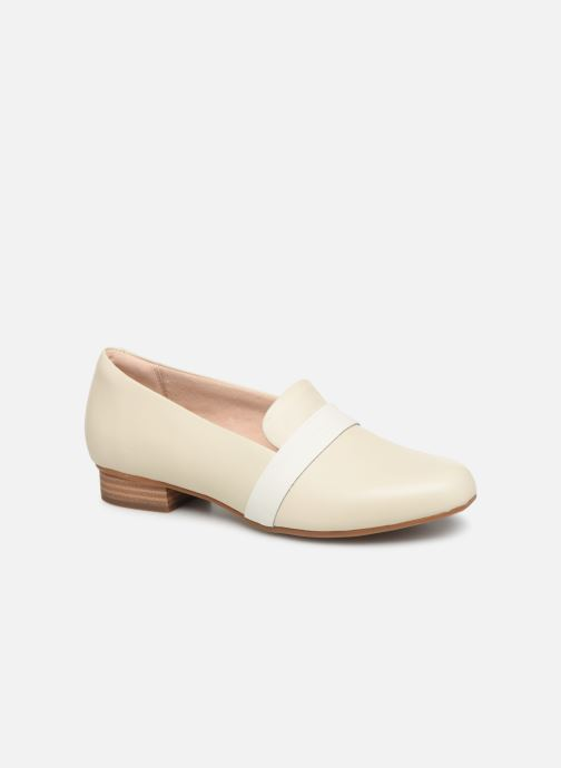 Loafers Clarks Unstructured Juliet Ariel White detailed view/ Pair view