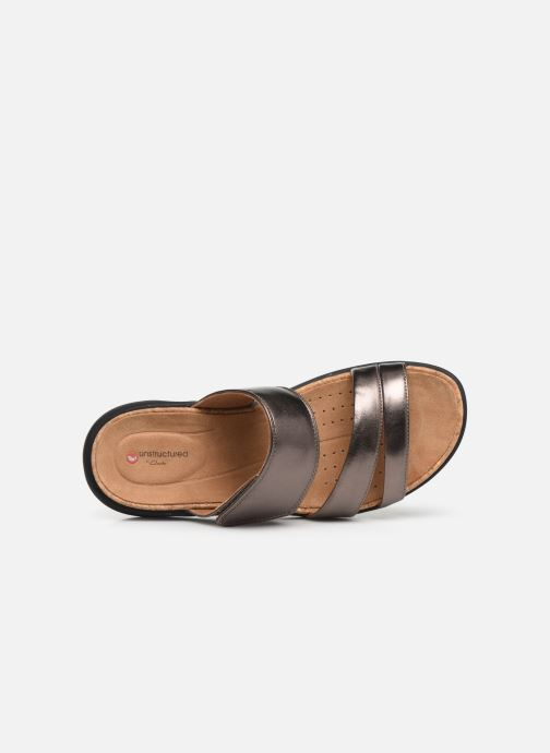 Mules & clogs Clarks Unstructured Un Bali Silver view from the left