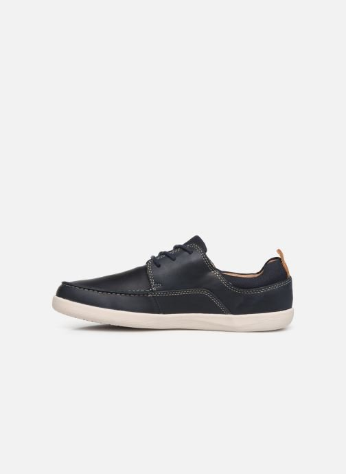 Zapatos con cordones Clarks Unstructured Un Lisbon Lace Azul vista de frente