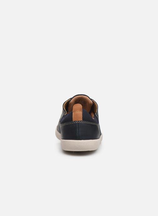 Zapatos con cordones Clarks Unstructured Un Lisbon Lace Azul vista lateral derecha