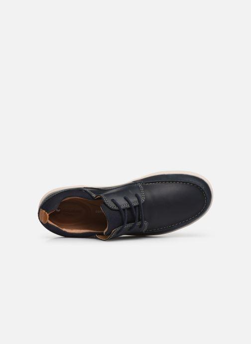 Chaussures à lacets Clarks Unstructured Un Lisbon Lace Bleu vue gauche