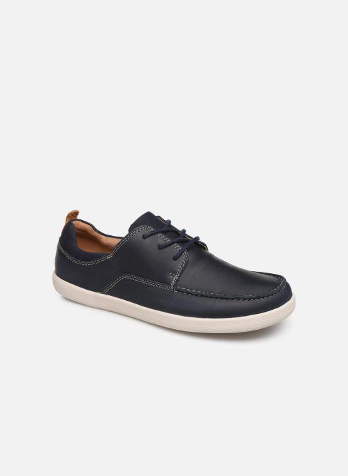 Zapatos con cordones Clarks Unstructured Un Lisbon Lace Azul vista de detalle / par