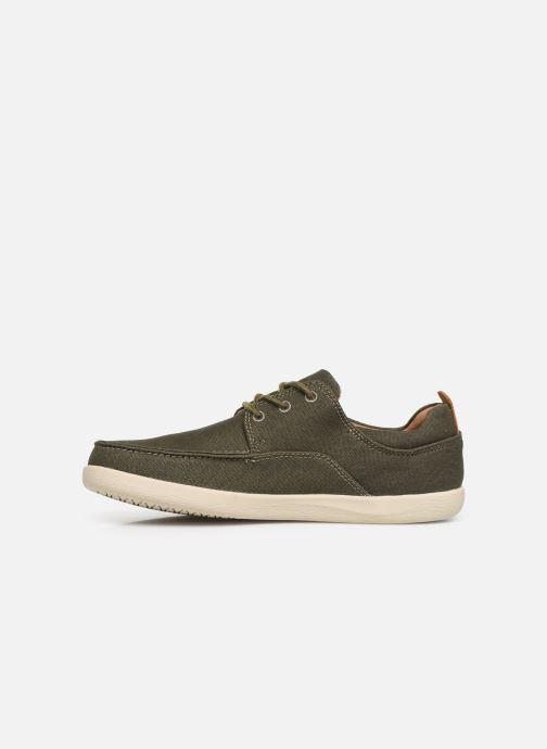 Chaussures à lacets Clarks Unstructured Un Lisbon Lace Vert vue face