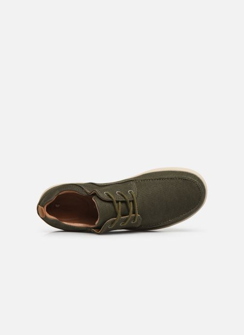 Lace-up shoes Clarks Unstructured Un Lisbon Lace Green view from the left