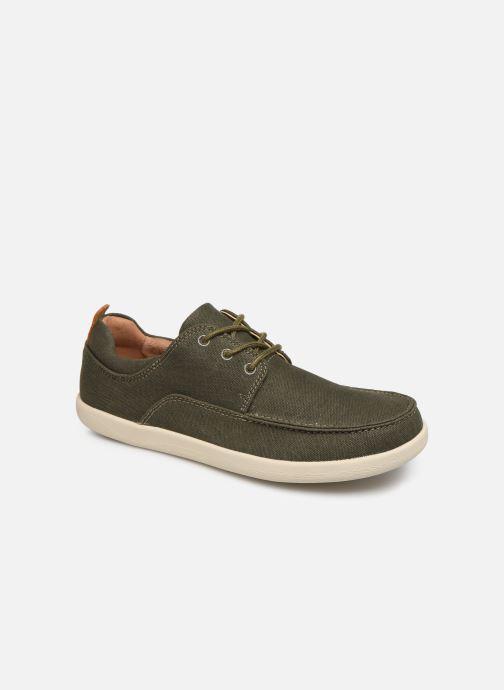 Zapatos con cordones Clarks Unstructured Un Lisbon Lace Verde vista de detalle / par