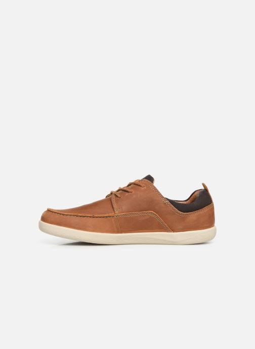 Zapatos con cordones Clarks Unstructured Un Lisbon Lace Marrón vista de frente