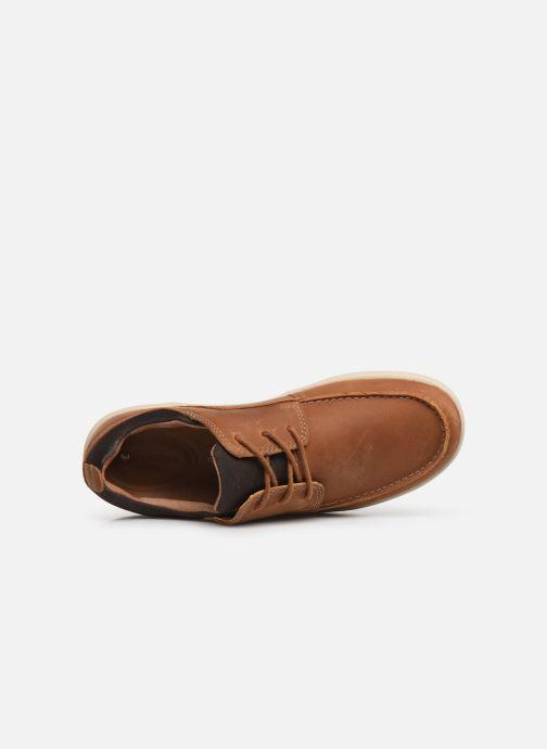 Zapatos con cordones Clarks Unstructured Un Lisbon Lace Marrón vista lateral izquierda