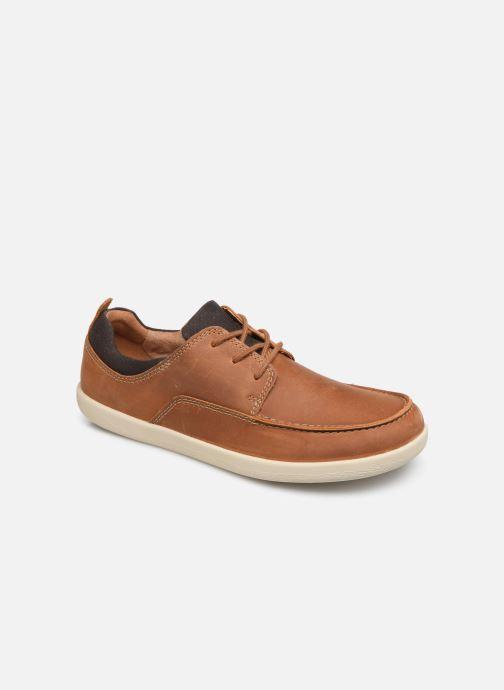 Zapatos con cordones Clarks Unstructured Un Lisbon Lace Marrón vista de detalle / par
