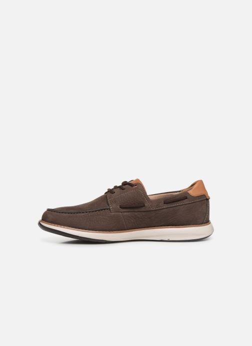 Chaussures à lacets Clarks Unstructured Un Pilot Lace Marron vue face