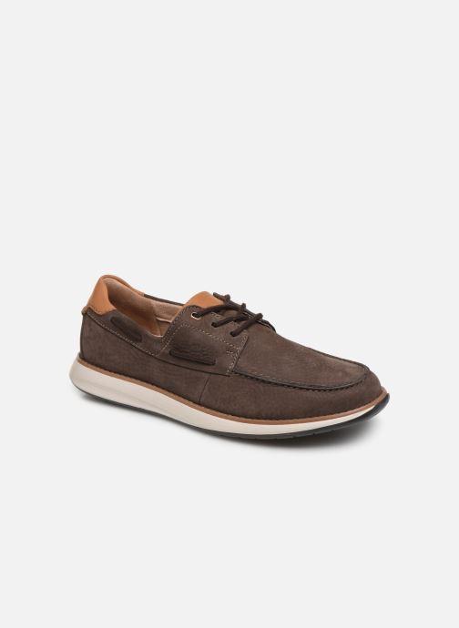 Chaussures à lacets Clarks Unstructured Un Pilot Lace Marron vue détail/paire