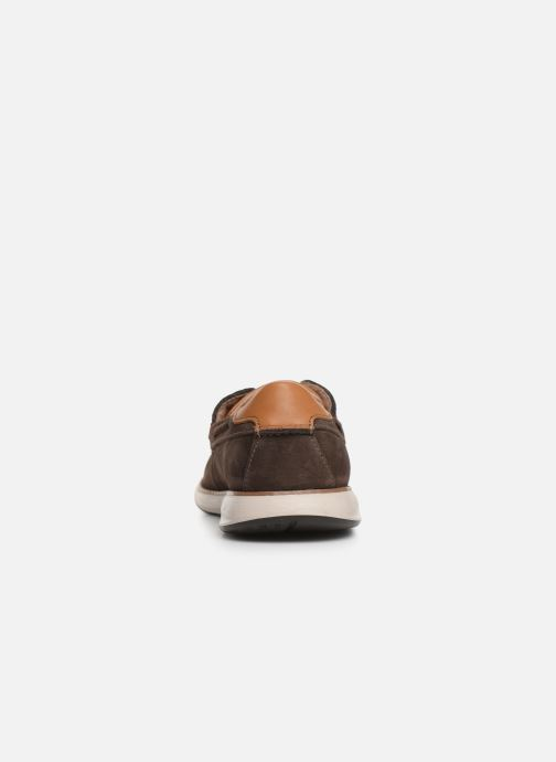Zapatos con cordones Clarks Unstructured Un Pilot Lace Marrón vista lateral derecha