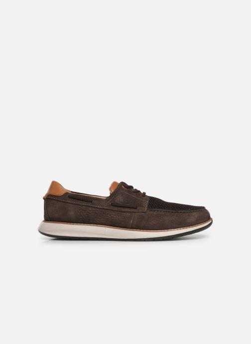 Zapatos con cordones Clarks Unstructured Un Pilot Lace Marrón vistra trasera