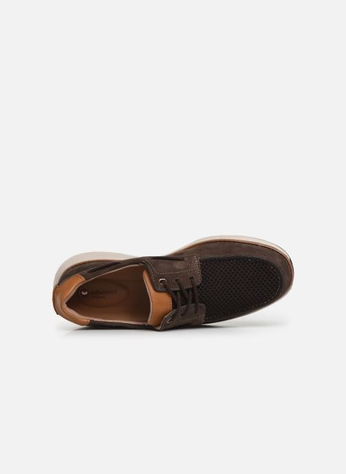 Zapatos con cordones Clarks Unstructured Un Pilot Lace Marrón vista lateral izquierda