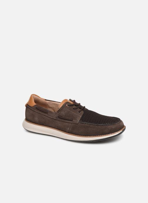 Zapatos con cordones Clarks Unstructured Un Pilot Lace Marrón vista de detalle / par