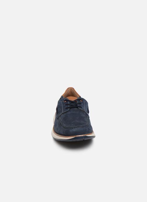 Chaussures à lacets Clarks Unstructured Un Pilot Lace Bleu vue portées chaussures