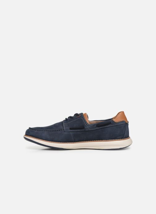 Lace-up shoes Clarks Unstructured Un Pilot Lace Blue front view