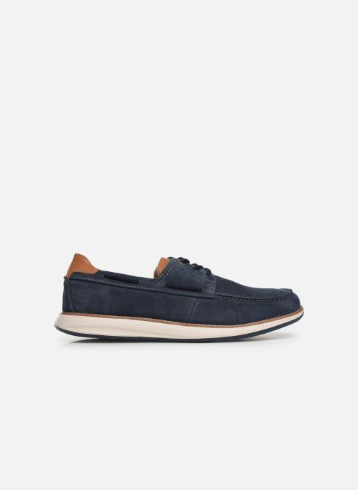 Lace-up shoes Clarks Unstructured Un Pilot Lace Blue back view