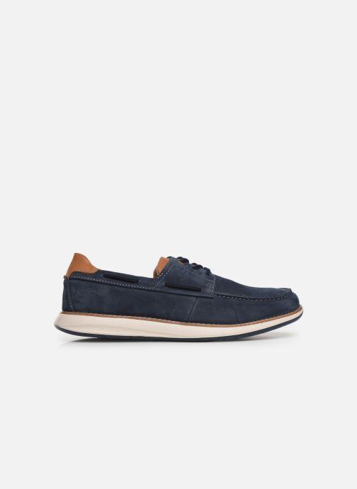 Chaussures à lacets Clarks Unstructured Un Pilot Lace Bleu vue derrière