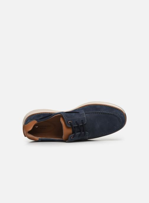 Lace-up shoes Clarks Unstructured Un Pilot Lace Blue view from the left