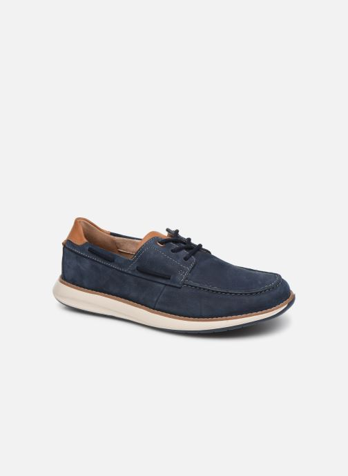 Chaussures à lacets Clarks Unstructured Un Pilot Lace Bleu vue détail/paire
