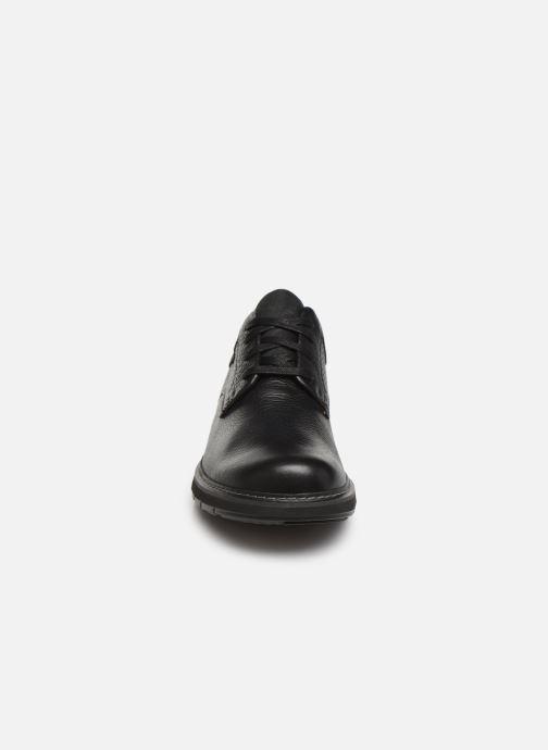 Chaussures à lacets Clarks Unstructured Un Ramble Lo Noir vue portées chaussures