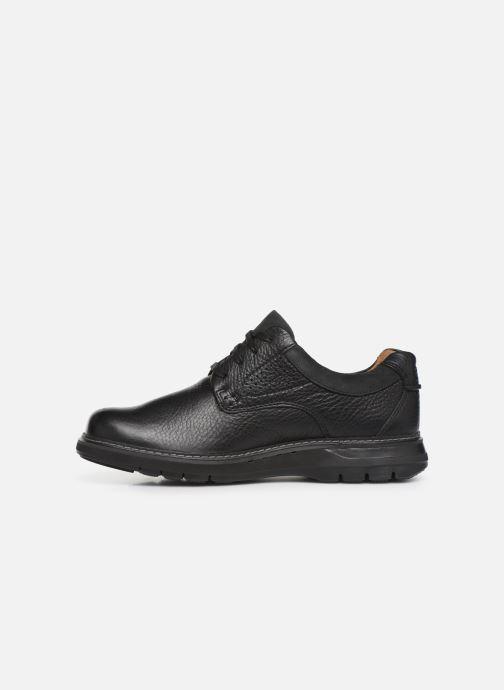 Lace-up shoes Clarks Unstructured Un Ramble Lo Black front view