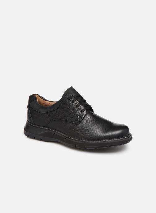 Snøresko Clarks Unstructured Un Ramble Lo Sort detaljeret billede af skoene