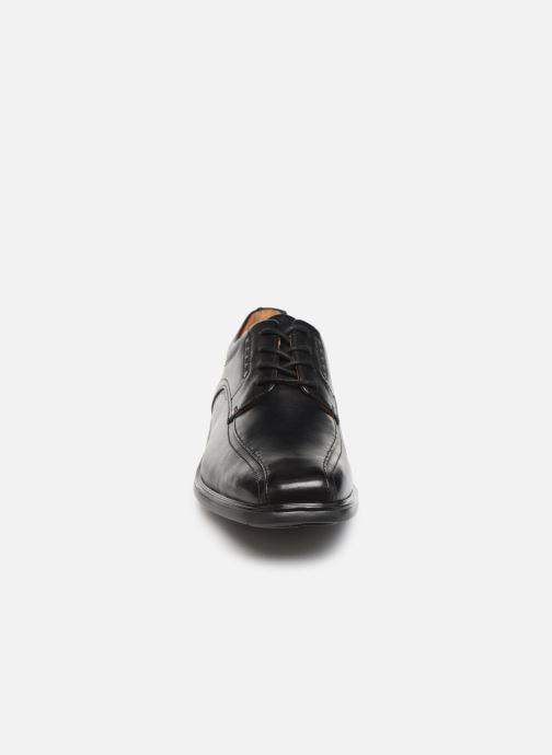 Schnürschuhe Clarks Unstructured UnKenneth Way schwarz schuhe getragen