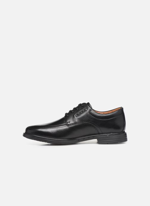 Lace-up shoes Clarks Unstructured UnKenneth Way Black front view