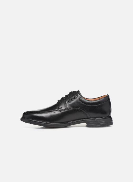 Zapatos con cordones Clarks Unstructured UnKenneth Way Negro vista de frente