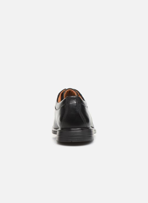 Lace-up shoes Clarks Unstructured UnKenneth Way Black view from the right