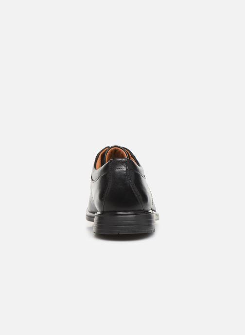 Zapatos con cordones Clarks Unstructured UnKenneth Way Negro vista lateral derecha