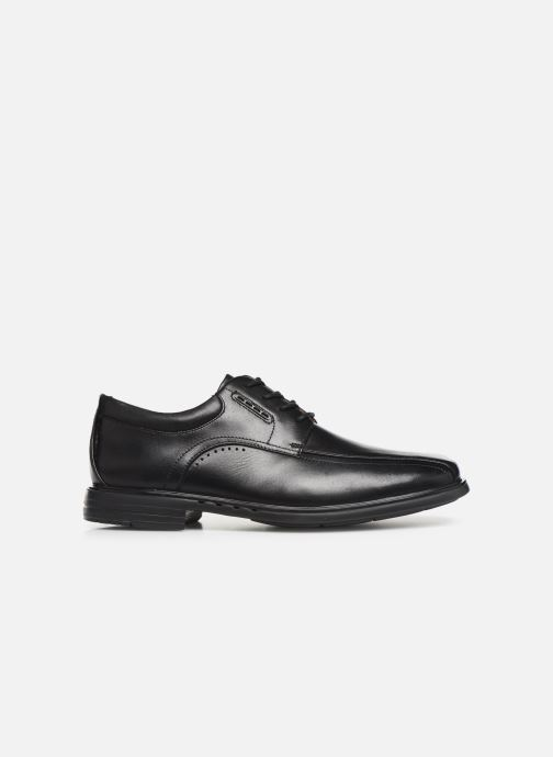 Lace-up shoes Clarks Unstructured UnKenneth Way Black back view