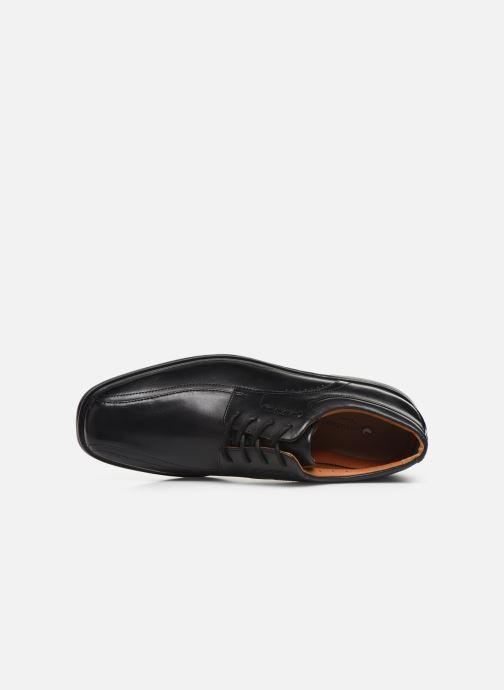 Zapatos con cordones Clarks Unstructured UnKenneth Way Negro vista lateral izquierda