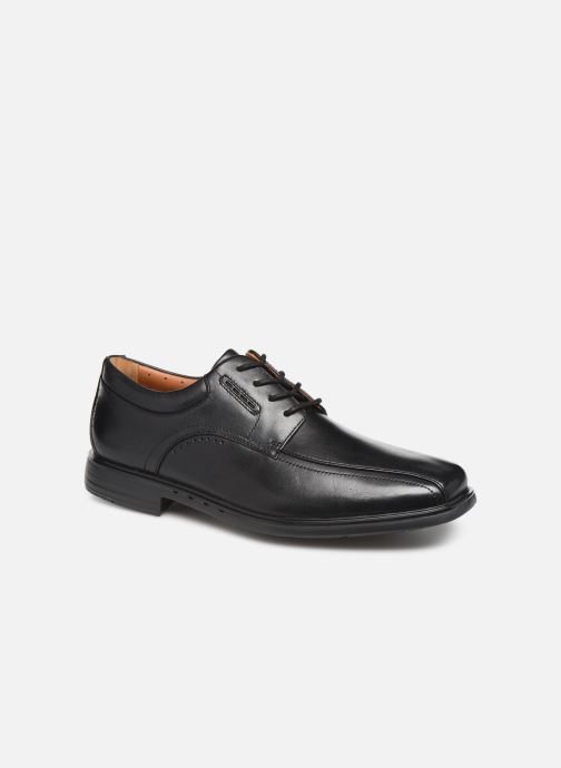 Lace-up shoes Clarks Unstructured UnKenneth Way Black detailed view/ Pair view