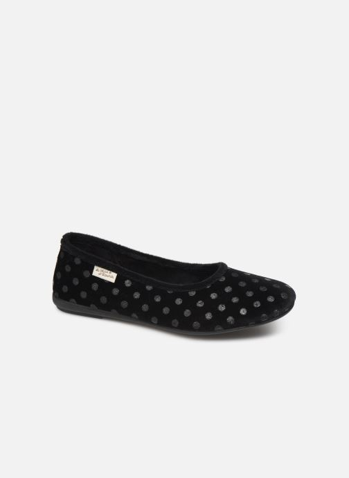 Slippers La maison de l'espadrille Minnie Black detailed view/ Pair view