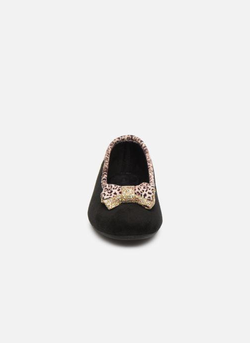 Chaussons La maison de l'espadrille Mounia Noir vue portées chaussures