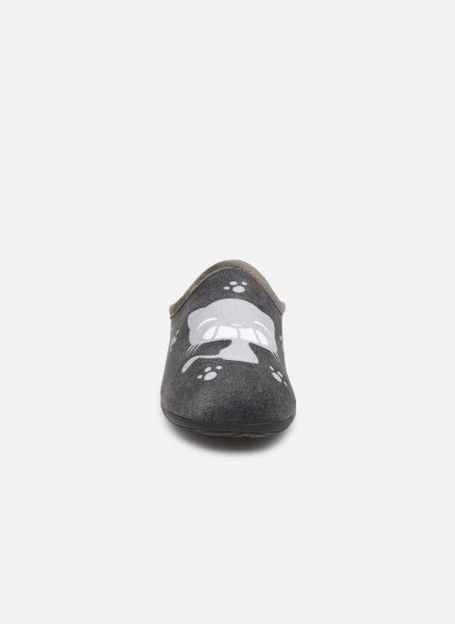 Chaussons La maison de l'espadrille Cat Gris vue portées chaussures