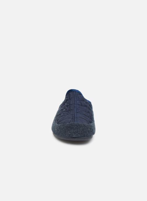 Chaussons La maison de l'espadrille Monsoeur Bleu vue portées chaussures